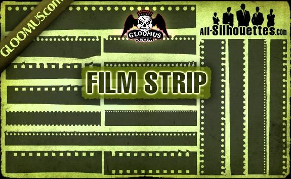 Vector Film Strip – All-Silhouettes