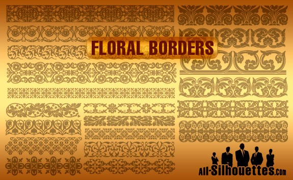 Vector Floral Borders – All-Silhouettes