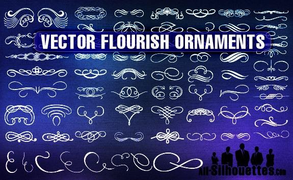 Vector Flourish Ornaments – All-Silhouettes