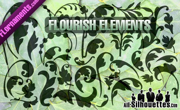 Vector Flourishes – All-Silhouettes