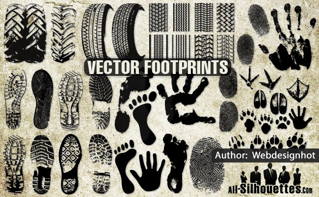 Vector Footprints clipart