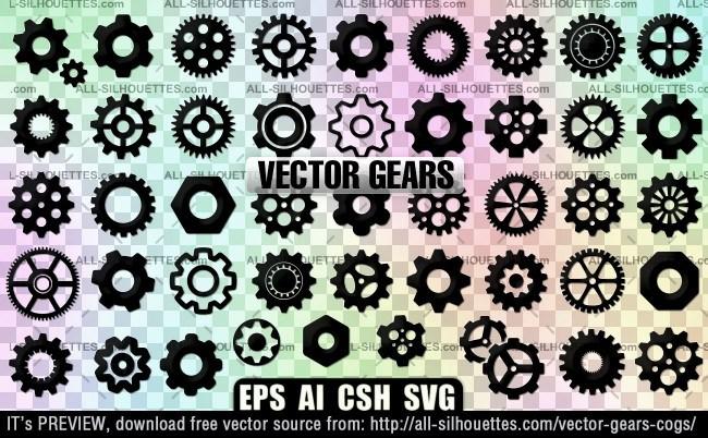 Vector gears cogs