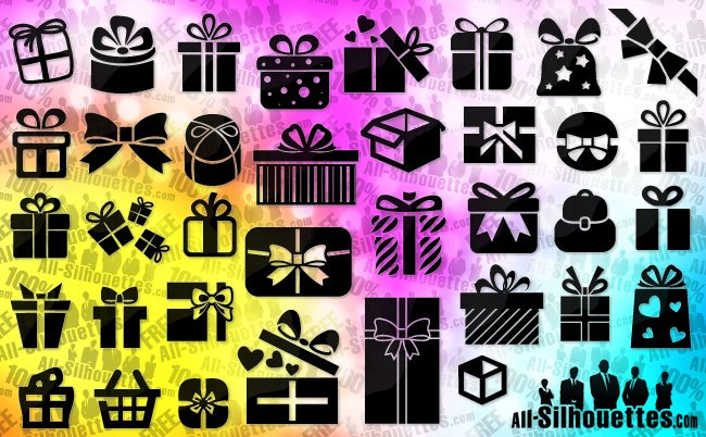 Vector gift & present boxes