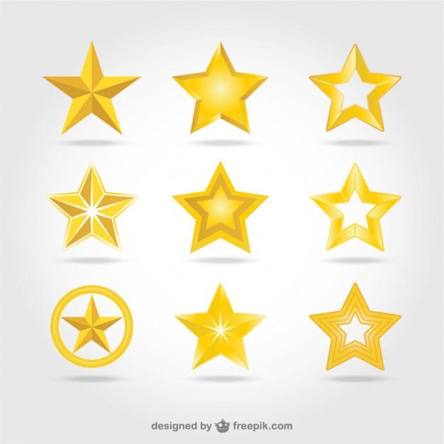 Vector golden stars icons  Vector | Free Download