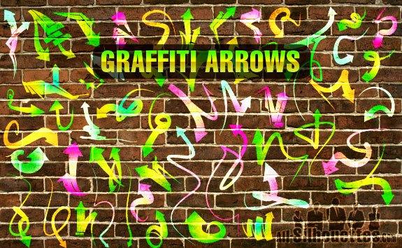 Vector Graffiti Arrows – All-Silhouettes