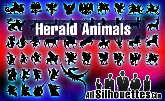 Vector Herald Animals – All-Silhouettes