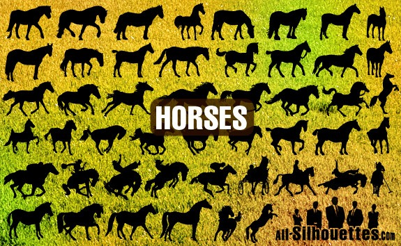 Vector Horses – All-Silhouettes