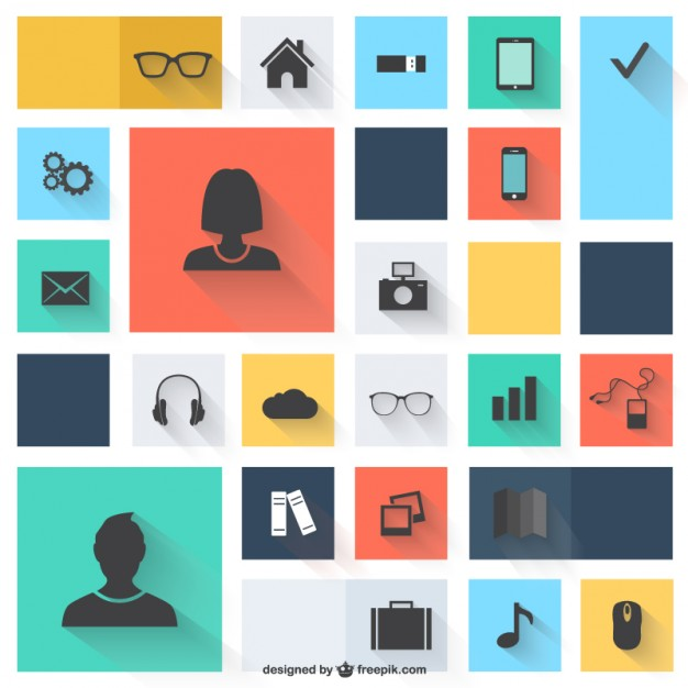 Vector icons flat design   Vector   Free Download