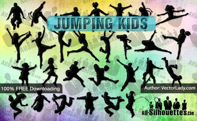 Vector Jumping Kids