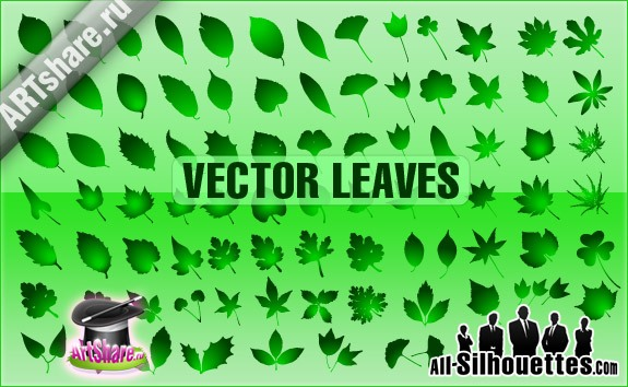 Vector Leaves – All-Silhouettes