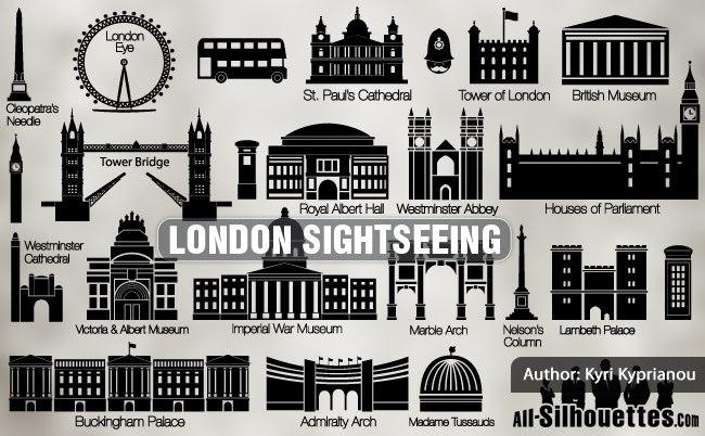 Vector London sightseeing
