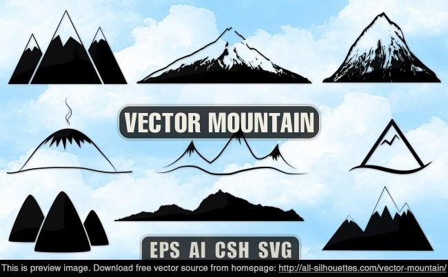 Vector mountain