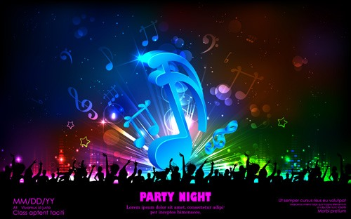Vector music background 03