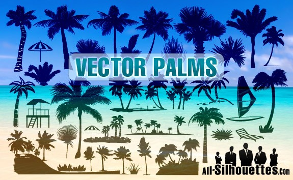 Vector Palms – All-Silhouettes