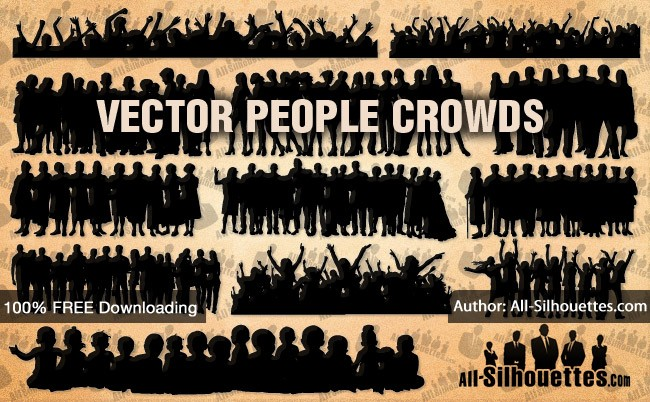 Vector people crowds