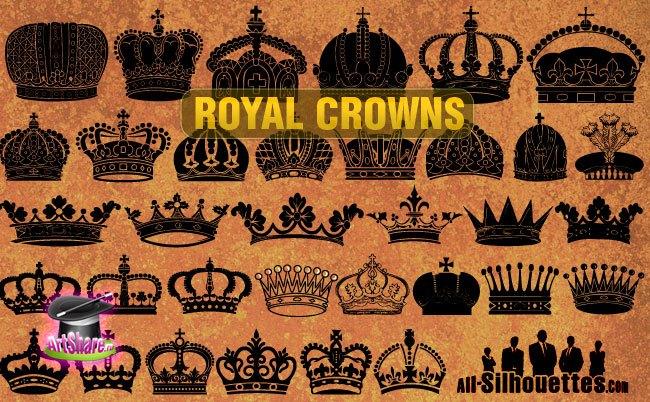 Vector Royal Crowns