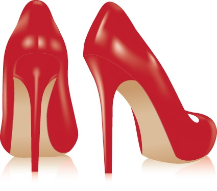 Vector set of Womens shoes elements 02