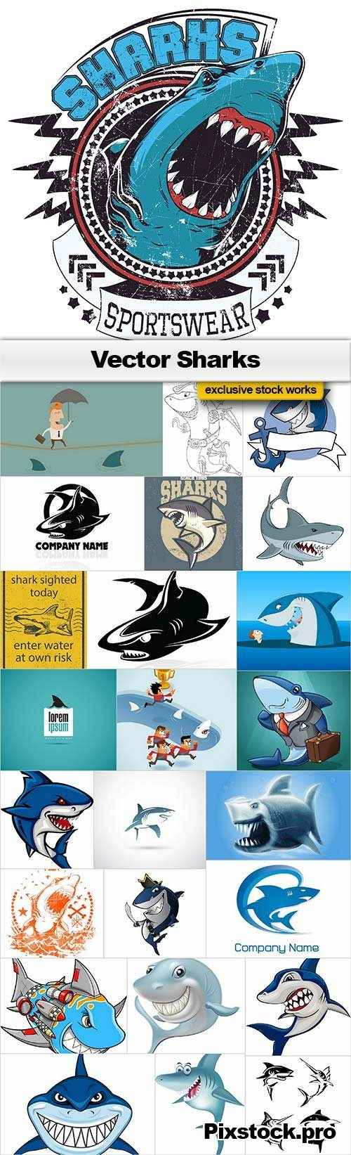 Vector Sharks