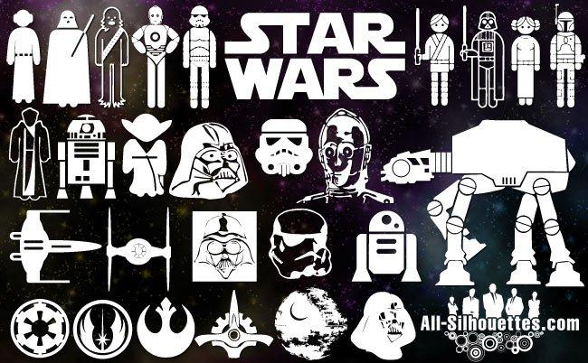 Vector starwars symbols