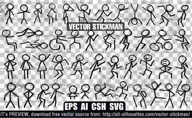 Vector stickman
