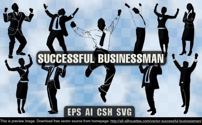Vector successful businessman
