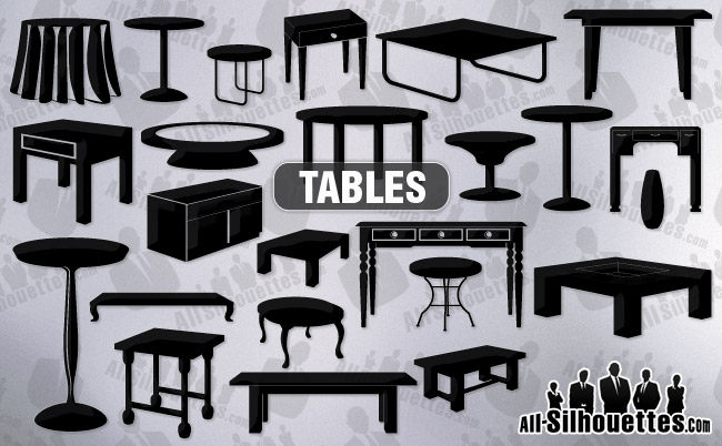 Vector tables clipart