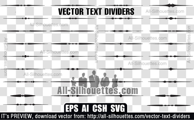 Vector text dividers