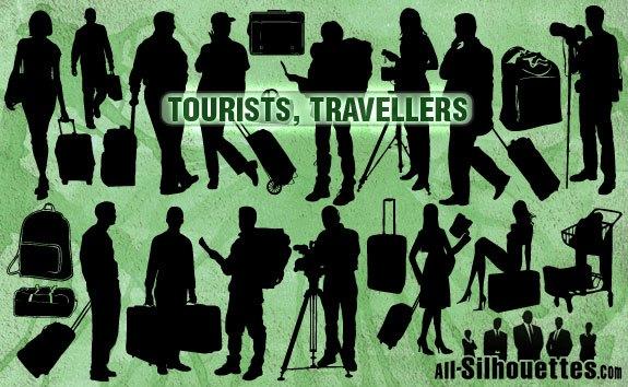 Vector Tourists Travelers