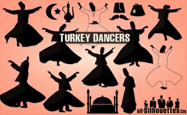 Vector Turkey Dancers