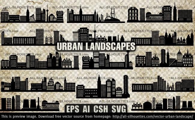Vector urban landscape