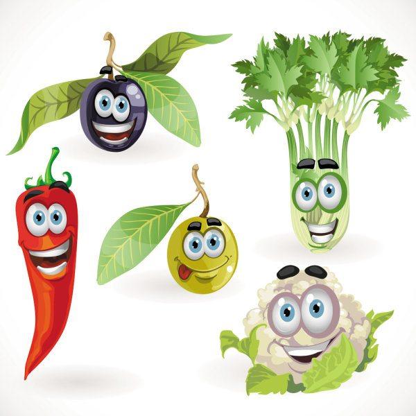 Vegetable cartoon image 05