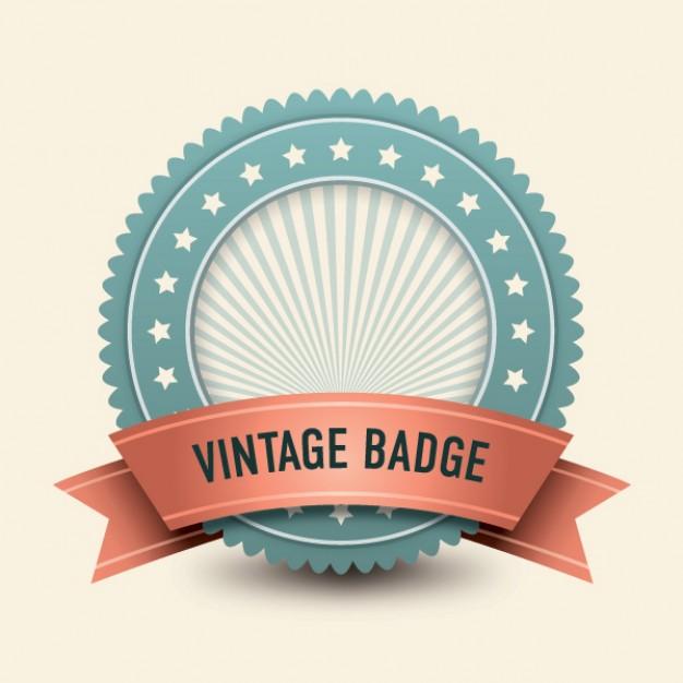 vintage badge  Vector | Free Download