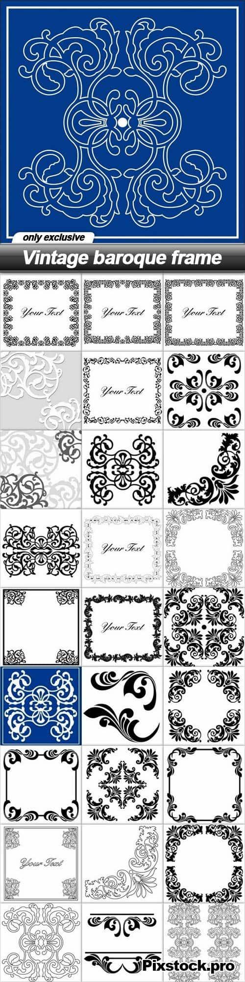 Vintage baroque frame – 28 EPS
