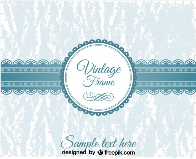 Vintage Blue Lace Banner and Badge Design