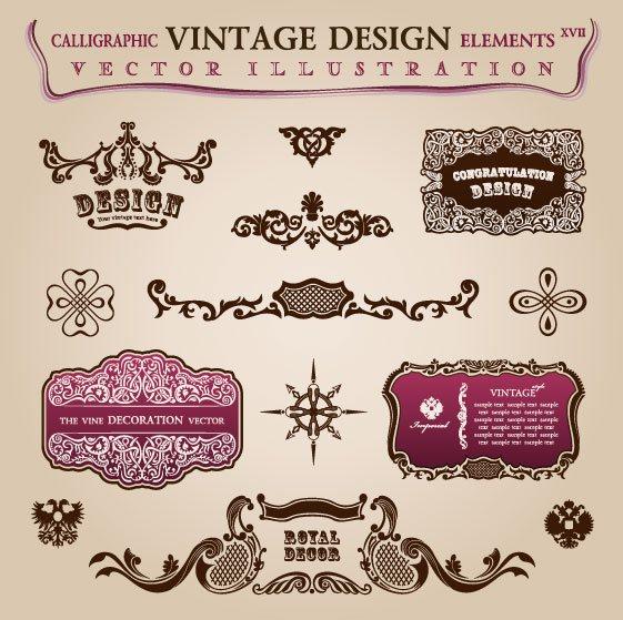 vintage Classic Borders vector 02