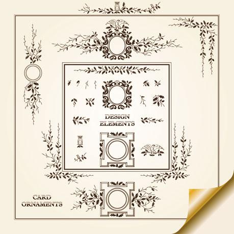 Vintage Decorative pattern Borders elements vector 01