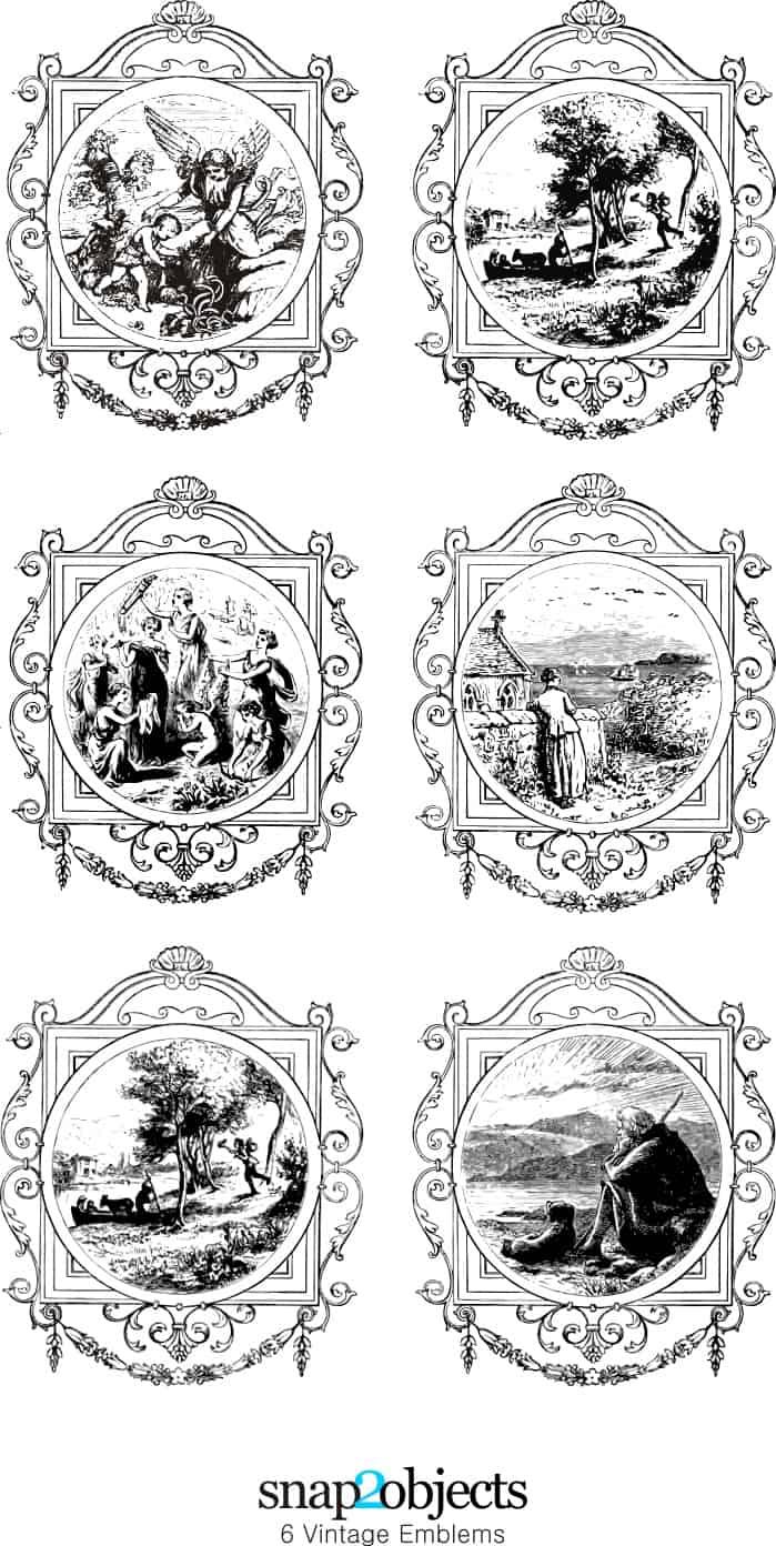 6 Vintage Emblems