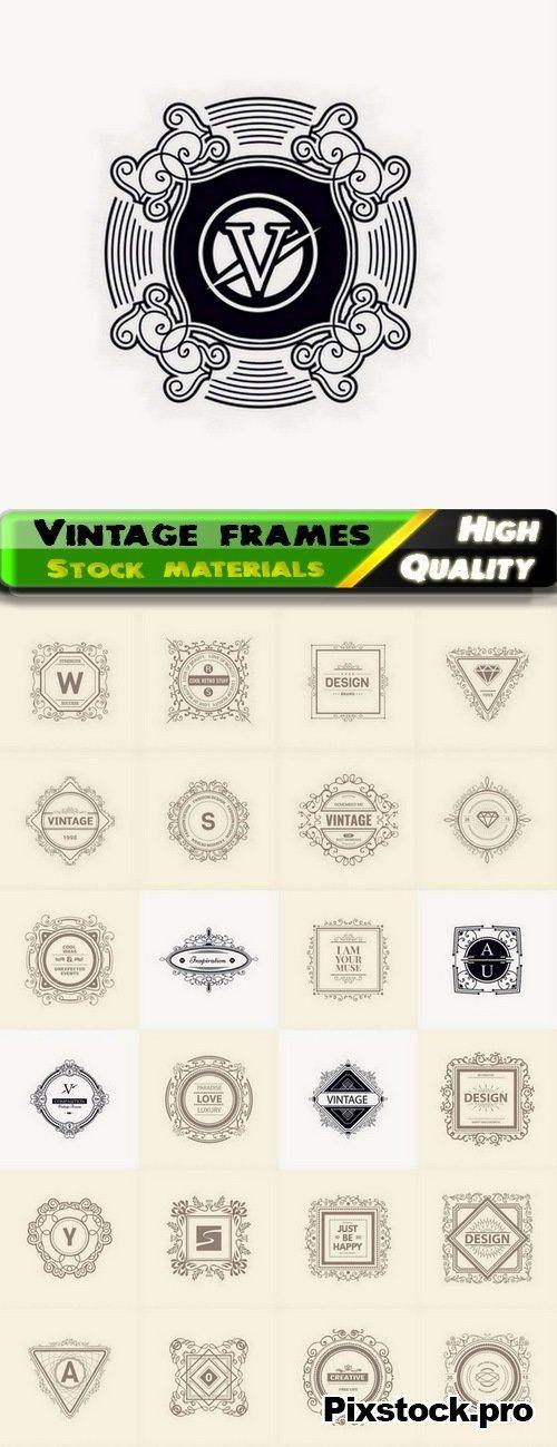 Vintage frames and brand emblems – 25 Eps