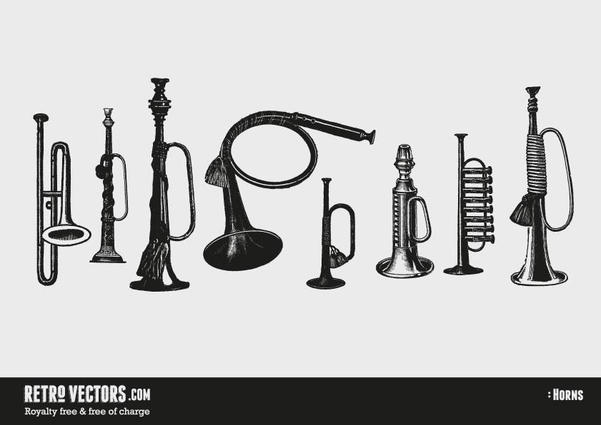 Vintage Horn Vectors