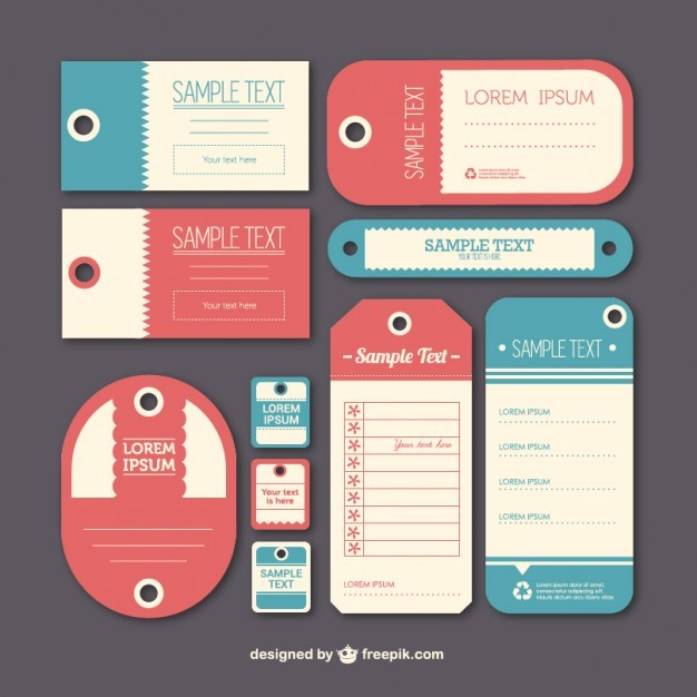 Vintage label tags template   Vector | Free Download