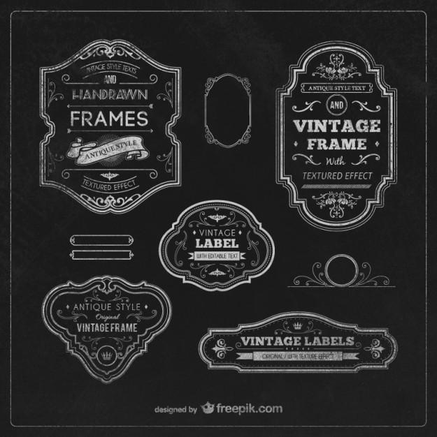 Vintage labels and frames  Vector | Free Download