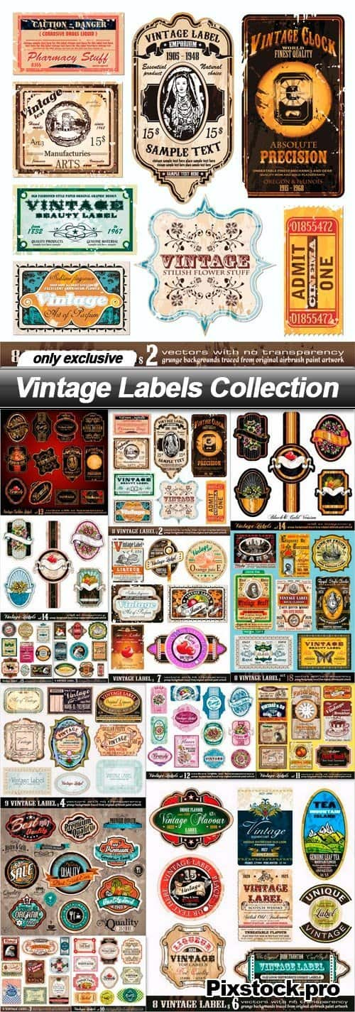 Vintage Labels Collection – 15 EPS