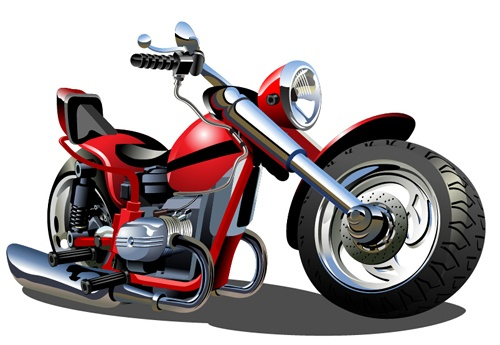 Vintage motorcycle illustration design vector 06