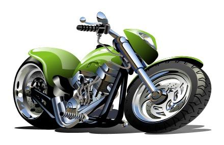 Vintage motorcycle illustration design vector 05