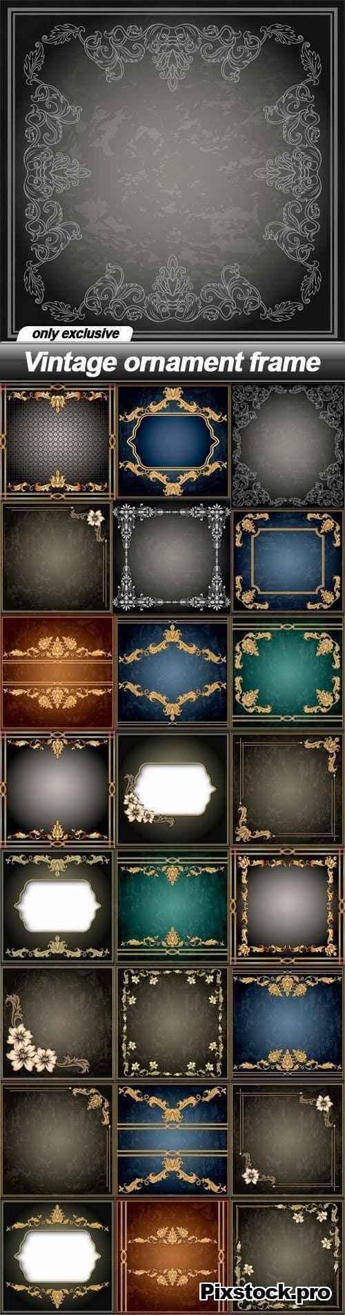 Vintage ornament frame – 25 EPS
