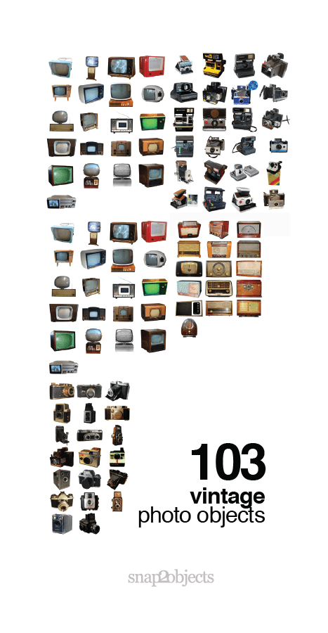 103 Vintage Photo Objects.