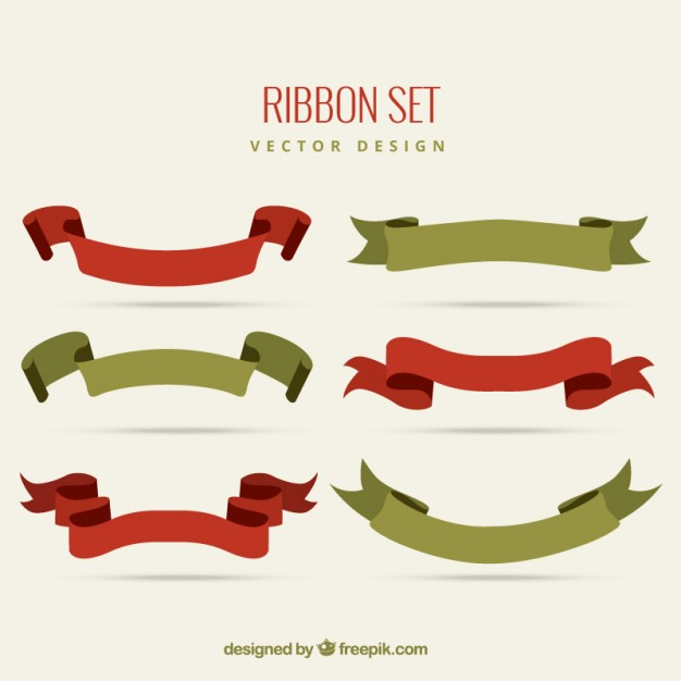 Vintage ribbon set