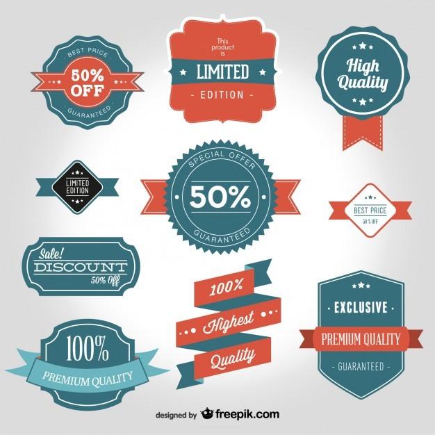 Vintage vector badge shapes  Vector | Free Download