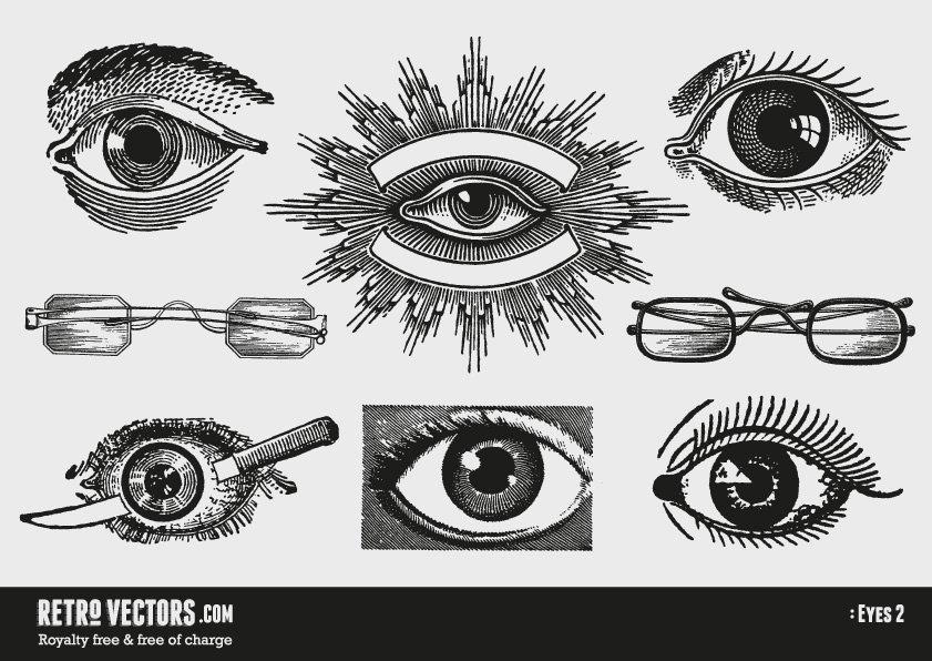 Vintage Vector Eyes