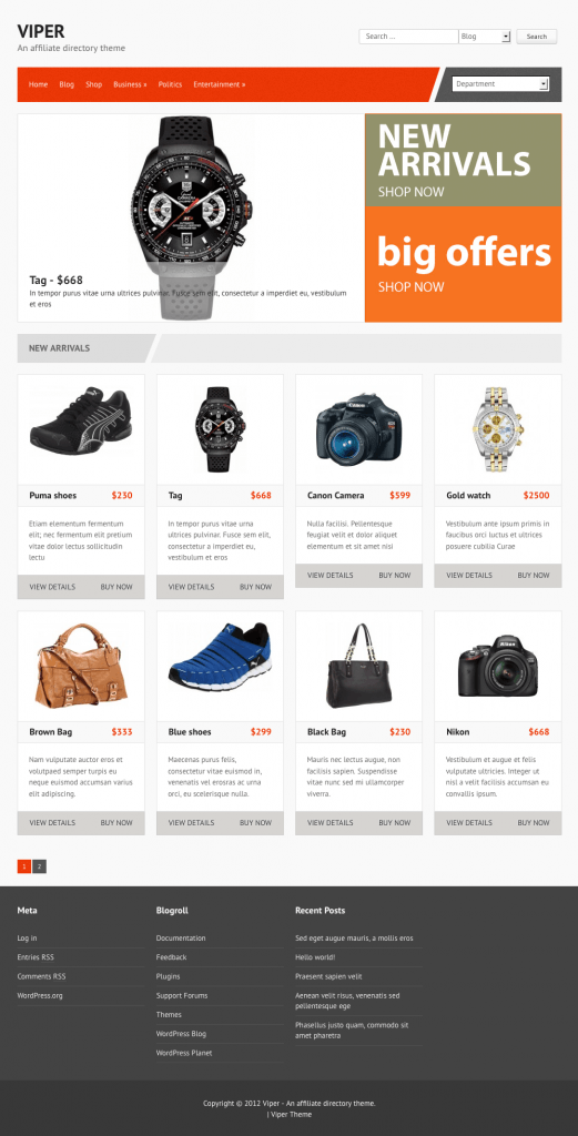 Viper WordPress Themes